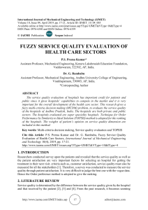 FUZZY SERVICE QUALITY EVALUATION OF HEALTH CARE SECTORS