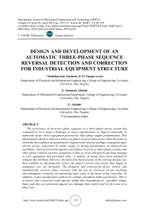DESIGN AND DEVELOPMENT OF AN AUTOMATIC THREE-PHASE SEQUENCE REVERSAL DETECTION AND CORRECTION FOR INDUSTRIAL EQUIPMENT STRUCTURE