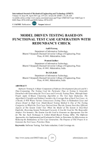 MODEL DRIVEN TESTING BASED ON FUNCTIONAL TEST CASE GENERATION WITH REDUNDANCY CHECK