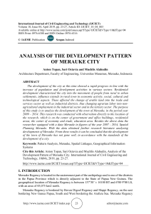 ANALYSIS OF THE DEVELOPMENT PATTERN OF MERAUKE CITY