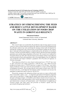 STRATEGY OF STRENGTHENING THE FEED AND BEEF CATTLE DEVELOPMENT BASED ON THE UTILIZATION OF FOOD CROP WASTE IN GORONTALO REGENCY