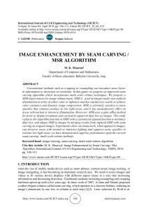 IMAGE ENHANCEMENT BY SEAM CARVING / MSR ALGORITHM