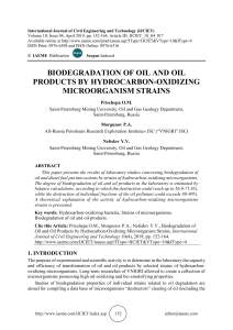 BIODEGRADATION OF OIL AND OIL PRODUCTS BY HYDROCARBON-OXIDIZING MICROORGANISM STRAINS