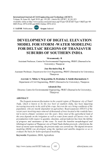 DEVELOPMENT OF DIGITAL ELEVATION MODEL FOR STORM -WATER MODELING FOR DELTAIC REGIONS OF THANJAVUR SUBURBS OF SOUTHERN INDIA
