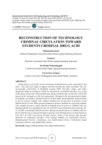 RECONSTRUCTION OF TECHNOLOGY CRIMINAL CIRCULATION TOWARD STUDENTS CRIMINAL DRUG ACID