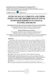 STUDY OF OCEAN CURRENTS AND THEIR EFFECT ON THE DISTRIBUTION OF TOTAL SUSPENDED SEDIMENT IN COASTAL WATERS, SEMARANG