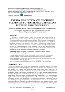 ENERGY DISSIPATION AND DISCHARGE COEFFICIENT OVER STEPPED GABION AND BUTTRESS GABION SPILLWAY