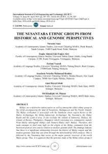 THE NUSANTARA ETHNIC GROUPS FROM HISTORICAL AND GENOMIC PERSPECTIVES