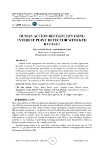 HUMAN ACTION RECOGNTION USING INTEREST POINT DETECTOR WITH KTH DATASET