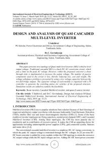 DESIGN AND ANALYSIS OF QUASI CASCADED MULTI-LEVEL INVERTER