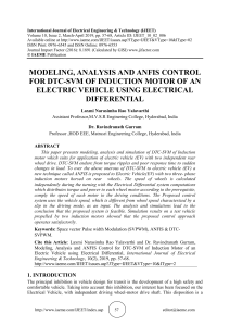 MODELING, ANALYSIS AND ANFIS CONTROL FOR DTC-SVM OF INDUCTION MOTOR OF AN ELECTRIC VEHICLE USING ELECTRICAL DIFFERENTIAL