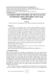 CLOSED LOOP CONTROL OF MULTI LEVEL INVERTER USING REVERSE VOLTAGE TOPOLOGY