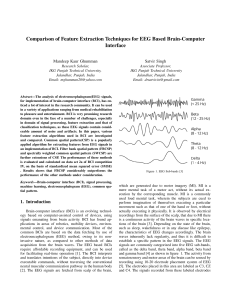 COMPARISON OF FEATURE EXTRACTION TECHNIQUES FOR EEG BASED RAIN-COMPUTER INTERFACE