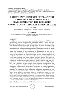 A STUDY ON THE IMPACT OF TRANSPORT AND POWER INFRASTRUCTURE DEVELOPMENT ON THE ECONOMIC GROWTH OF UNITED ARAB EMIRATES (UAE)