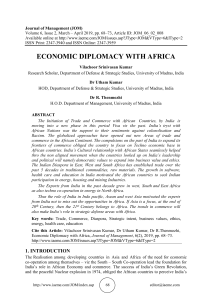 ECONOMIC DIPLOMACY WITH AFRICA