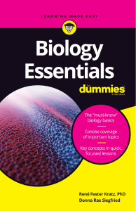Biology Essentials For Dummies - Rene Fester Kratz