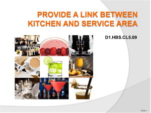 PPT Provide a link between kitchen and service area