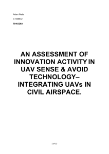 An Assessment of Innovation Activity in UK Sense & Avoid Technology- Integrating UAVs in British Civil Airspace.