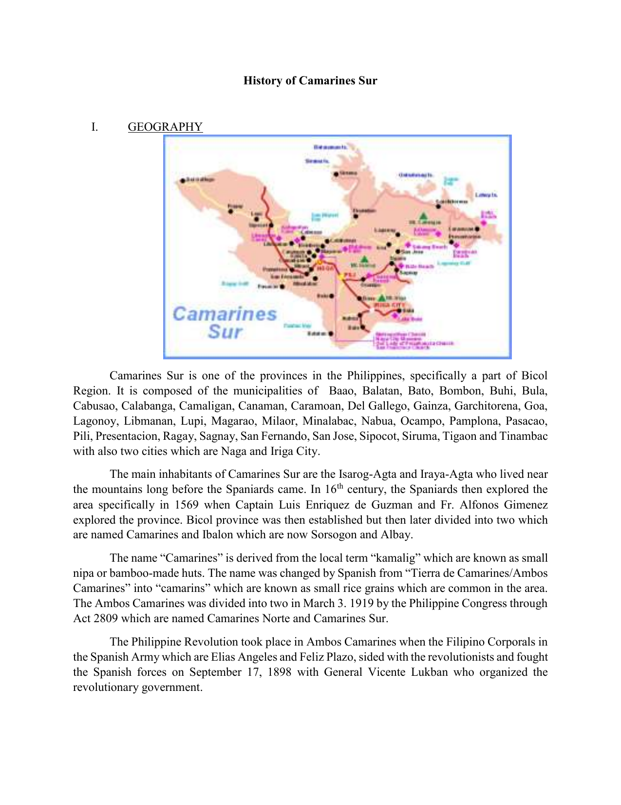 History of Camarines Sur