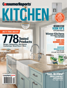 Consumer Reports Kitchen Planning and Buying Guide - September 2016
