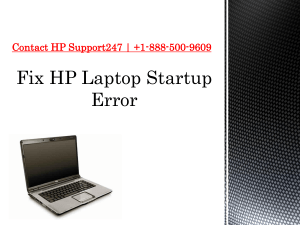 How to Fix HP Laptop Startup Error | Contact Today +1-888-500-9609