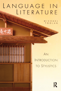 Michael Toolan. - Language in literature   an introduction to stylistics-Routledge (1998)
