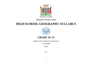 GEOGRAPHY senior sec syllabus
