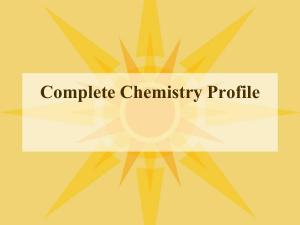 Chem profile
