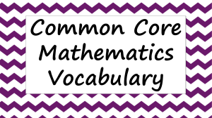 Common Core Ratio and Rate Vocabulary - Word Wall Posters