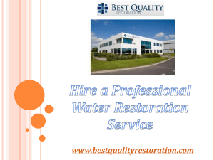 Professional Water Restoration Service