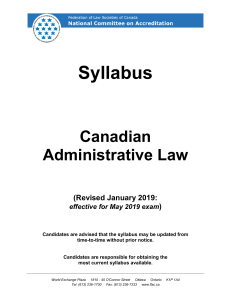 00Syllabus - Administrative-May-2019