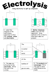Modelling Electrolysis: the electron shuffle