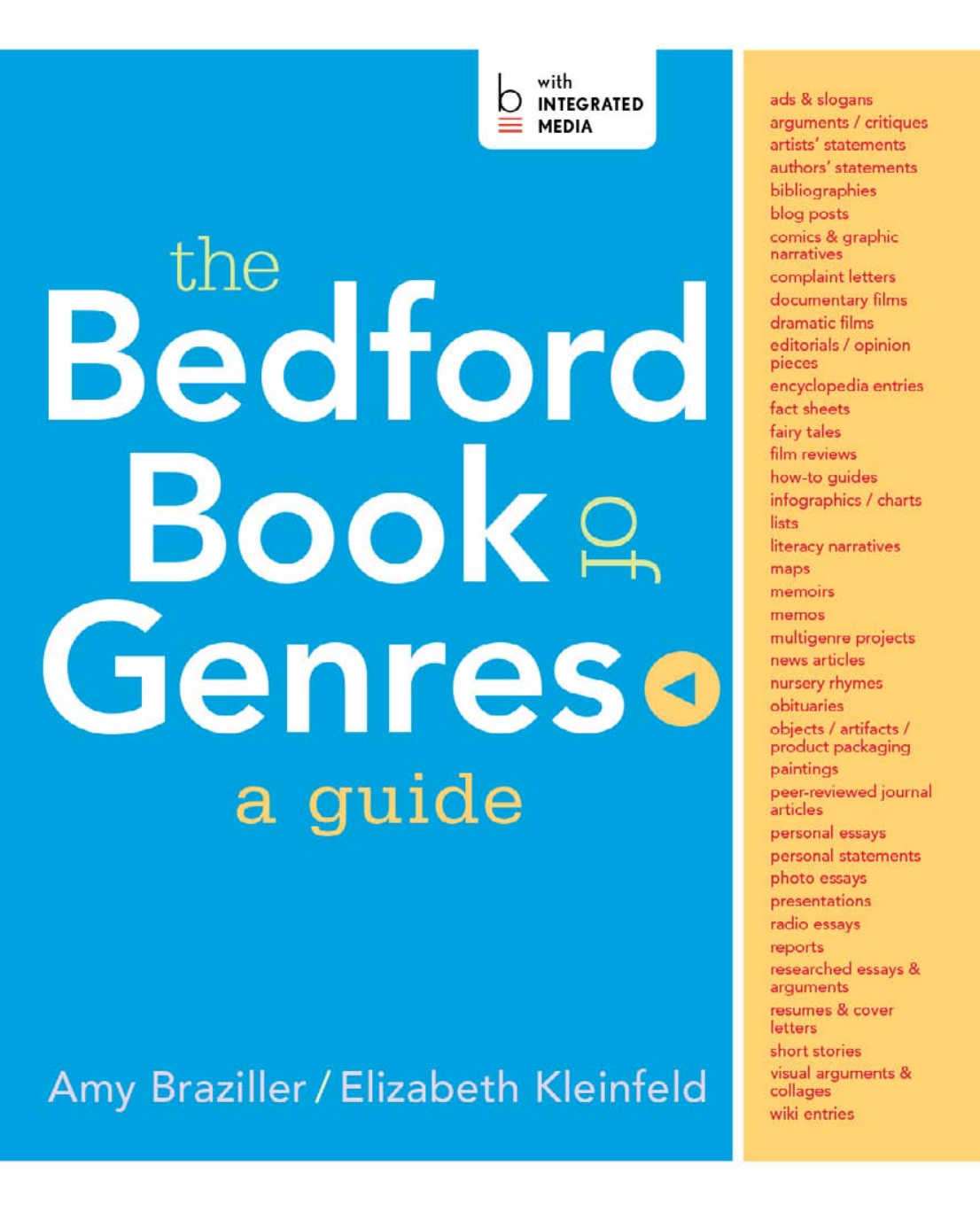 Braziller The Bedford Book Of Genres A Guide