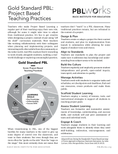 Gold Standard PBL Teaching v2019
