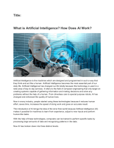How does artificial intelligence work