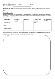 Sand Salt Iron Worksheet