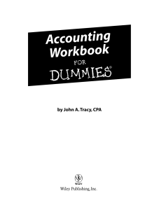 Accounting Workbook for Dummies (ISBN - 0471791458)