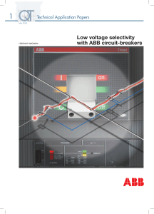 ABB-Low Voltage Selectivity with ABB Circuit Breakers