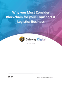 Why you Must Consider Blockchain for your Transport & Logistics Business