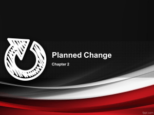 nature of planned change