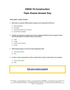 Osha 10 Final Exam Answer Key 2019