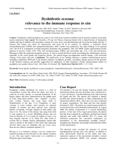 Dyshidrotic eczema relevance of hte immune response in situ