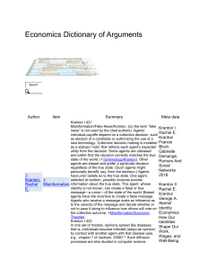 Fake News - Economics Dictionary of Arguments