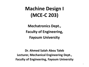01) Machine Design I
