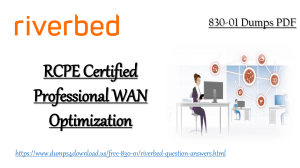 Guarantee Success in Riverbed 830-01 Exam With Valid 830-01 Dumps 2019