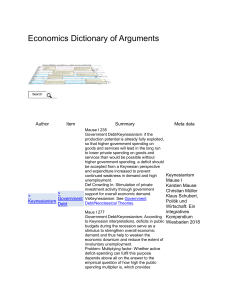 Keynesianism on Government Debt - Economics Dictionary of Arguments