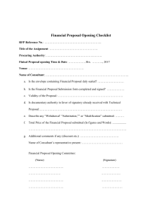 20170723-Financial Proposal Opening Checklist