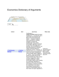 Carbon Pricing - Economics Dictionary of Arguments