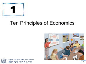 Chapter 0-1 Ten Principles of Economics
