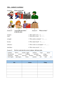 Jobs - worksheet with answers